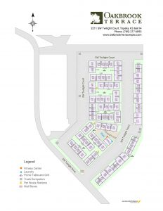 Oakbrook Terrace Apartment Homes site map